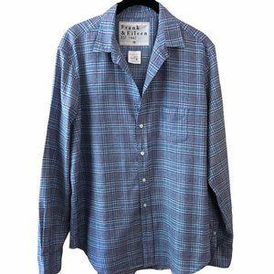 Frank & Eileen Blue Plaid Button Up Shirt M
